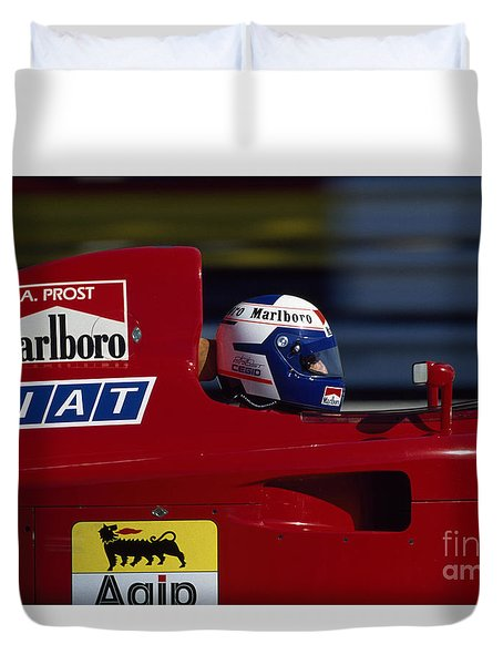 Alain Prost. 1990 French Grand Prix Duvet Cover