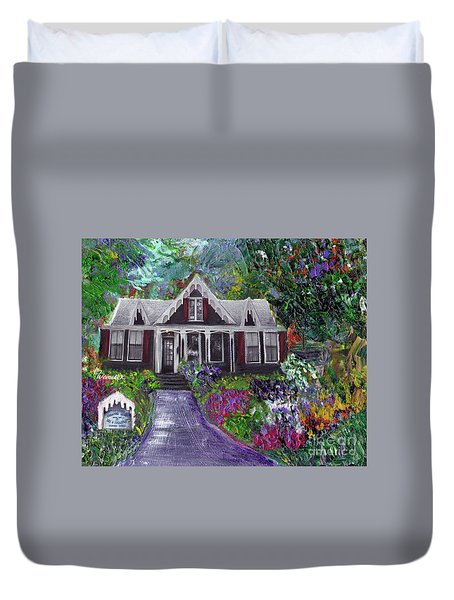 Alameda 1854 Gothic Revival - The Webster House Duvet Cover by Linda Weinstock