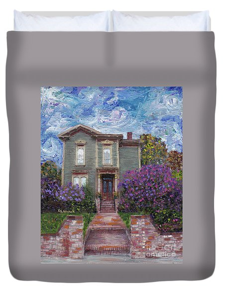 Alameda 1888 - Italianate Duvet Cover by Linda Weinstock