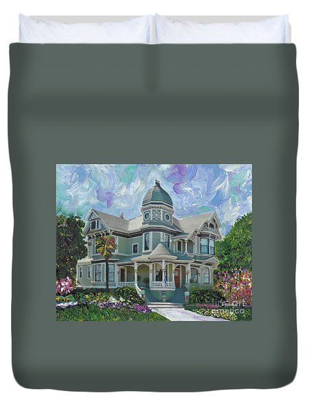 Alameda 1893  Queen Anne  Duvet Cover by Linda Weinstock