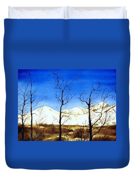 Alaska Blue Sky Day  Duvet Cover by Brenda Owen