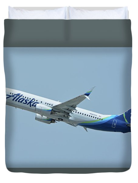 Alaska Boeing 737-890 N563as Los Angeles International Airport May 3 2016 Duvet Cover