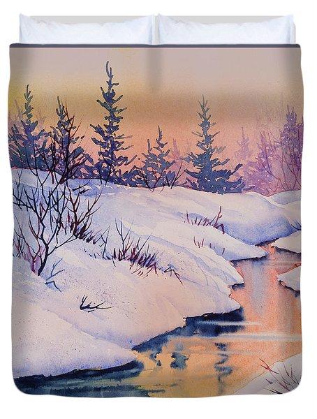 Alaska Gold Duvet Cover