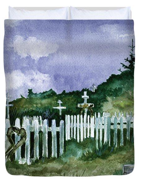 Alaska Graveyard  Duvet Cover by Brenda Owen