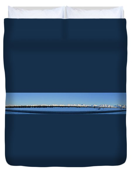 Alaska Highway Panorama Duvet Cover