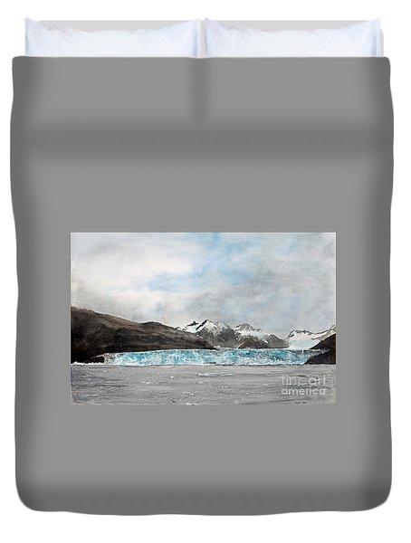 Alaska Ice Duvet Cover by Monte Toon