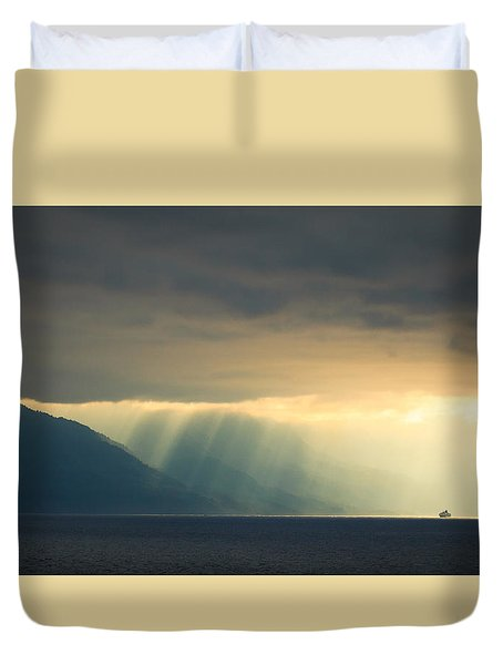 Alaska Inside Passage Under The Clouds Duvet Cover