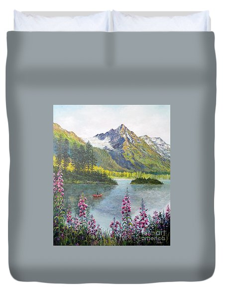 Duvet Cover featuring the painting Alaska by Lou Ann Bagnall