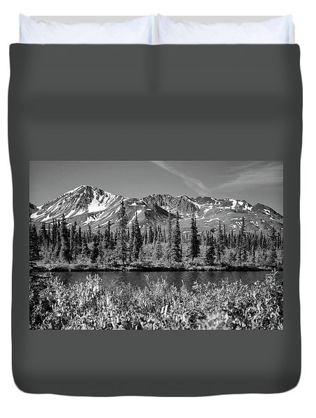 Alaska Mountains Duvet Cover by Zawhaus Photography