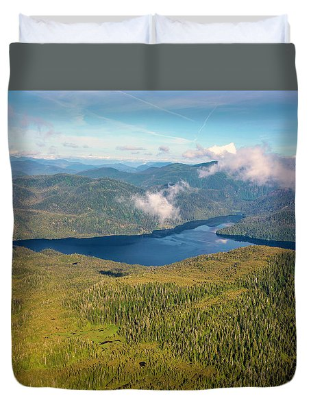Duvet Cover featuring the photograph Alaska Overview by Madeline Ellis