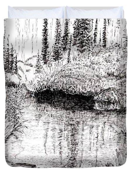 Alaska Pond Duvet Cover