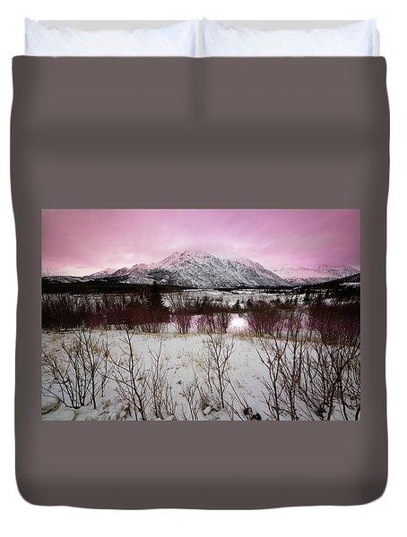 Alaska Range Pink Sky Duvet Cover