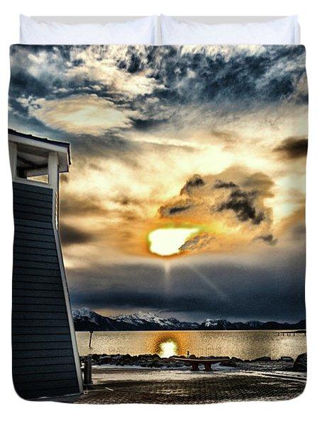 Alaska Starts Here Seward Alaska Duvet Cover