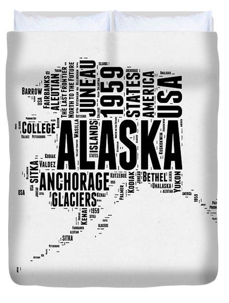 Alaska Word Cloud 2 Duvet Cover