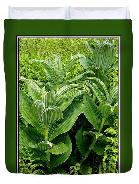 Alaskan Field Foliage Duvet Cover