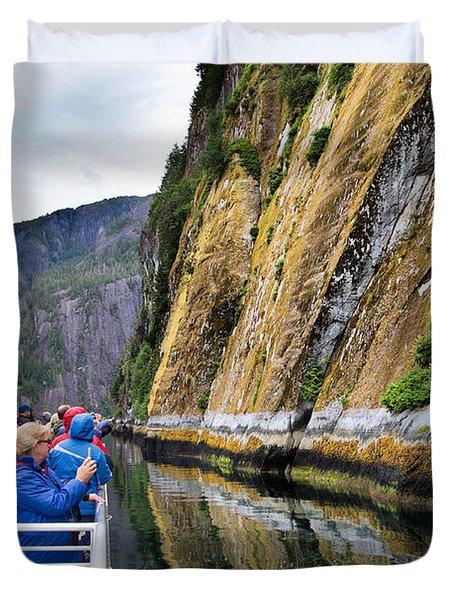 Alaskan Fjords Duvet Cover