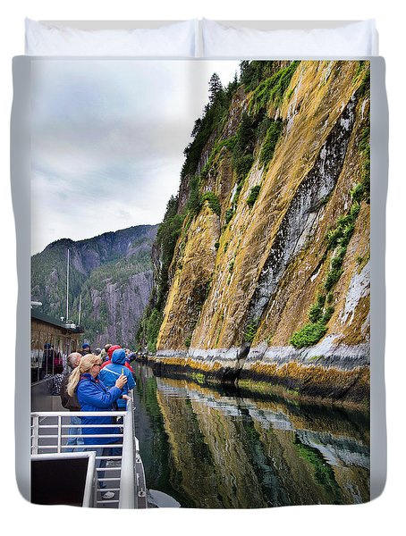 Alaskan Fjords Duvet Cover