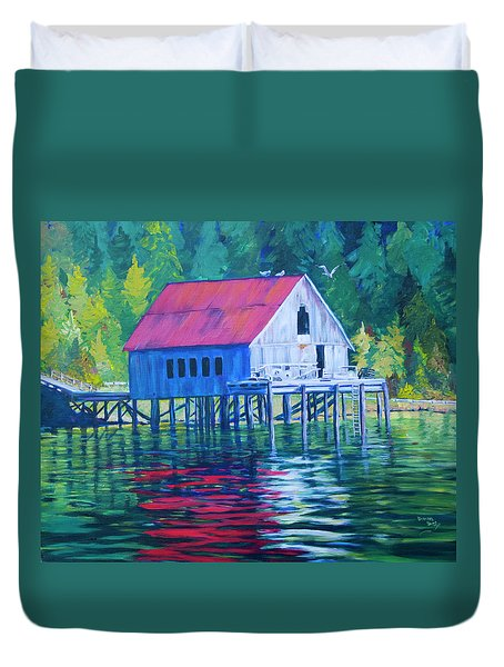 Alaskan Gear Shed Duvet Cover