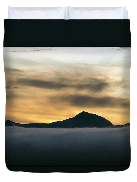 Alaskan Gold Duvet Cover