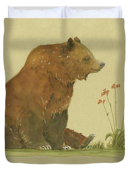 Alaskan Grizzly Bear Duvet Cover