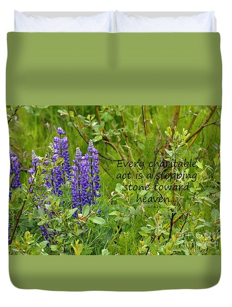 Duvet Cover featuring the photograph Alaskan Lupine Heaven by Diane E Berry