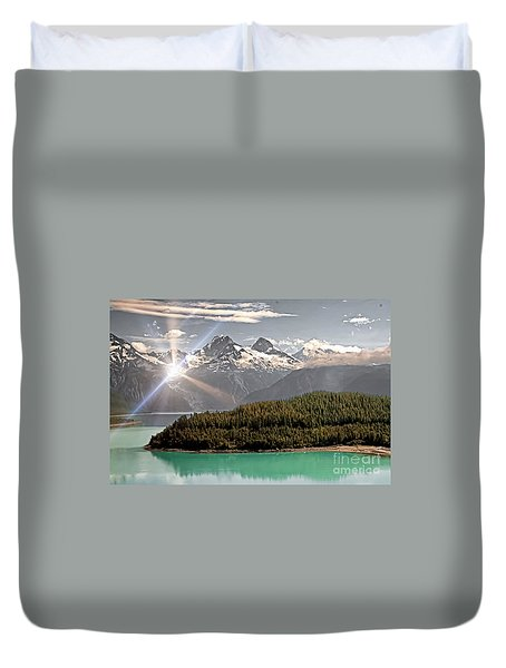 Alaskan Mountain Reflection Duvet Cover