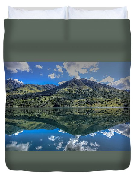 Alaskan Reflections Duvet Cover by Don Mennig
