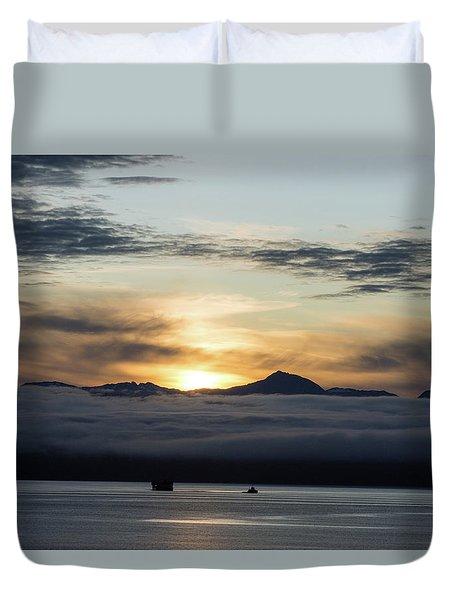 Alaskan Sun Rise Duvet Cover