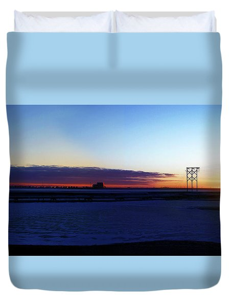 Alaskan Sunrise Duvet Cover