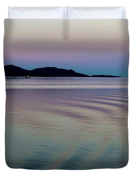 Alaskan Sunset At Sea Duvet Cover