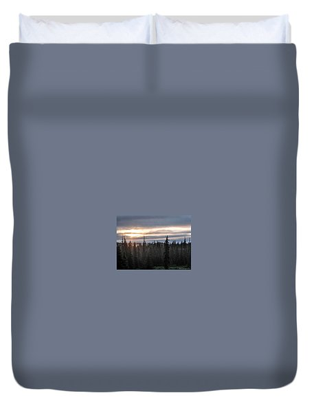 Alaskan Sunset Sunrise Duvet Cover