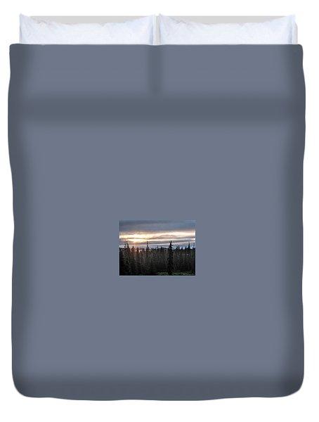 Alaskan Sunset Sunrise Duvet Cover