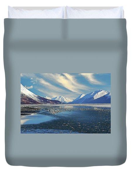 Alaskan Winter Landscape Duvet Cover