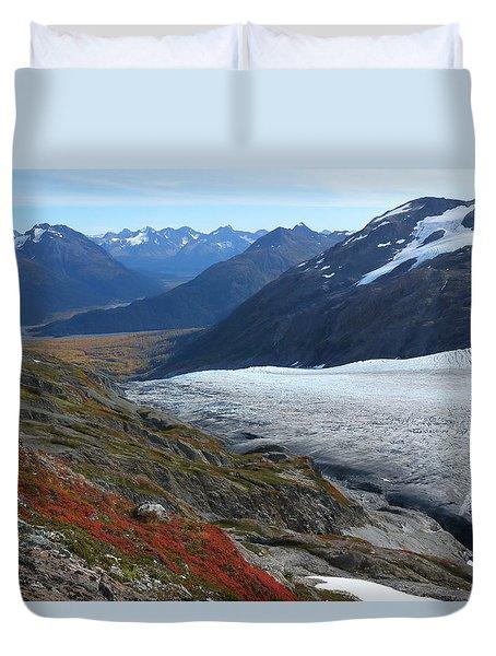 Alaska's Exit Glacier Duvet Cover