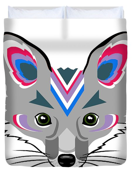 Duvet Cover featuring the digital art Alayna Fox by Jean Haynes