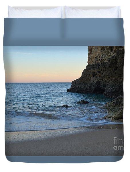 Albandeira Beach Welcoming Twilight 2 Duvet Cover