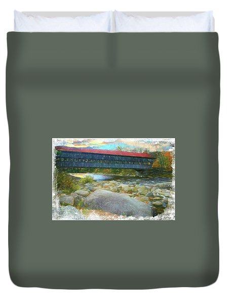 Albany Covered Bridge Nh. Duvet Cover