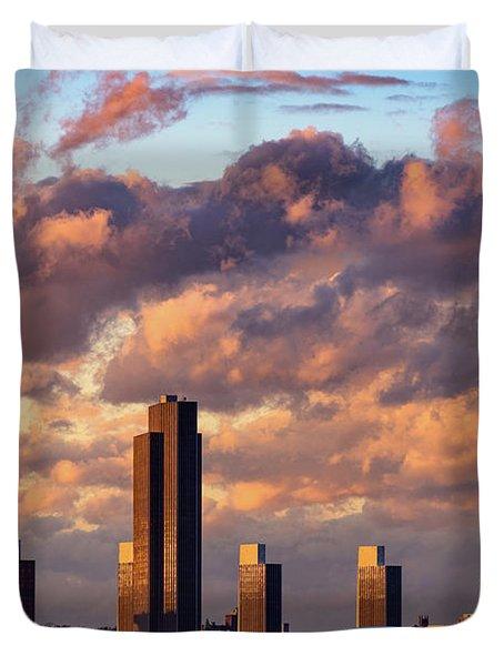 Albany Sunset Skyline Duvet Cover