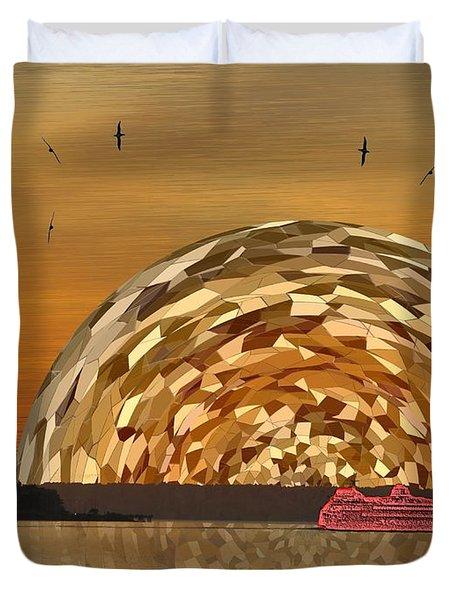 Albatross Setting Duvet Cover by Tim Allen