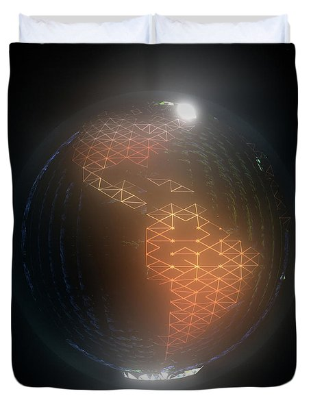 Albedo - Americas By Night Duvet Cover