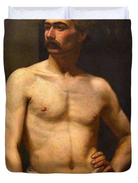 Albert Edelfelt Male Model Duvet Cover