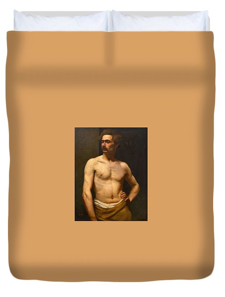 Albert Edelfelt Male Model Duvet Cover