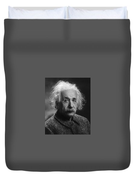 Albert Einstein, 1947. Age 68. Duvet Cover