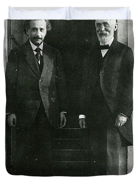 Albert Einstein And Hendrik Antoon Lorentz Duvet Cover