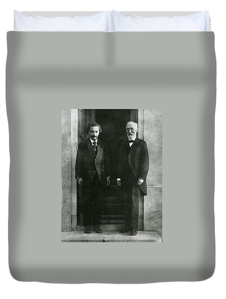 Albert Einstein And Hendrik Antoon Lorentz Duvet Cover