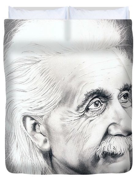Albert Einstein  Duvet Cover by Murphy Elliott