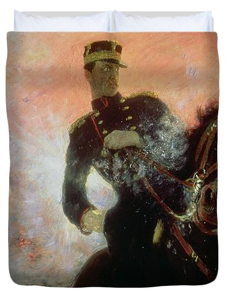 Albert I King Of The Belgians In The First World War Duvet Cover by Ilya Efimovich Repin