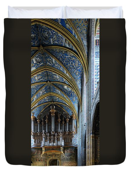 Albi Cathedral Nave Duvet Cover by RicardMN Photography