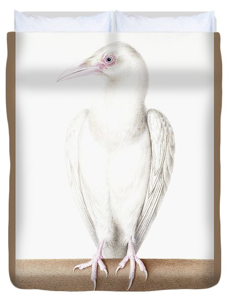 Albino Crow Duvet Cover by Nicolas Robert