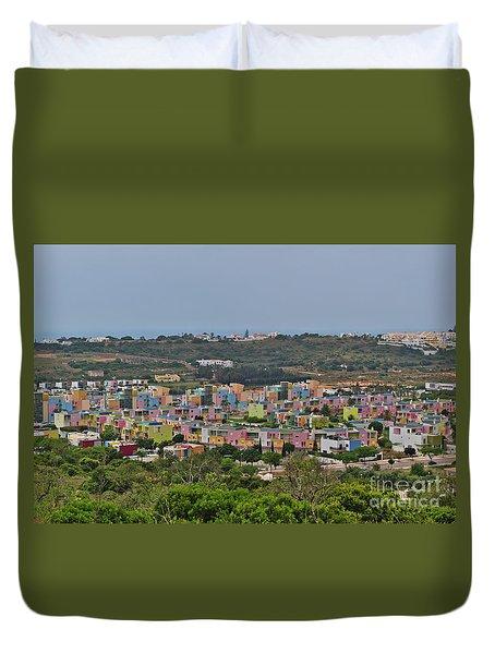Albufeira Marina View Duvet Cover